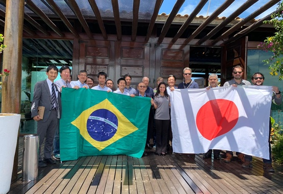 Members of the Japanese Chamber of Commerce and Industry of Brazil visit the Port of Açu