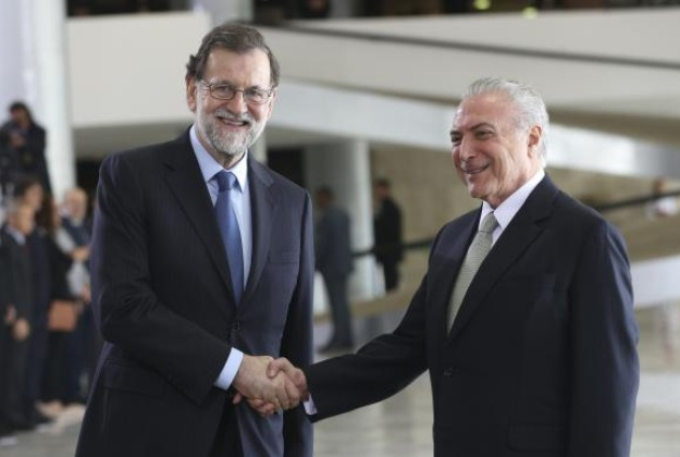 Temer meets with Prime Minister of Spain